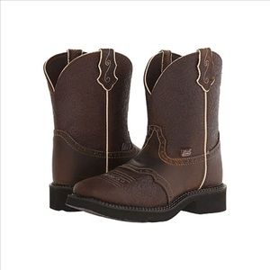 Justin Gypsy Embossed Cowboy Leather Boots